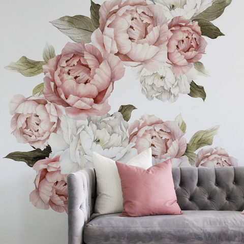 Water + Ink Floral Wall Decals