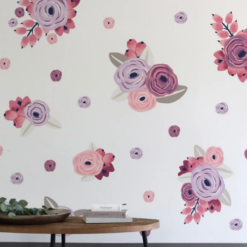 Graphic Flower Cluster Wall Decals - Multiple Colors - Project Nursery