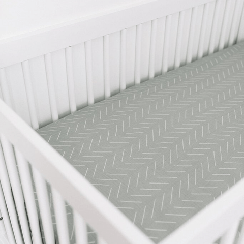 Lilac Plaid Brushed Crib Sheet