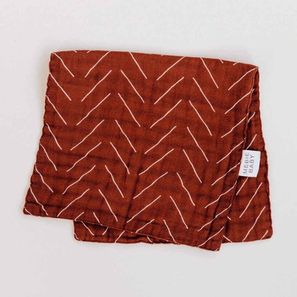 Rust Mudcloth Burp Cloth - Project Nursery