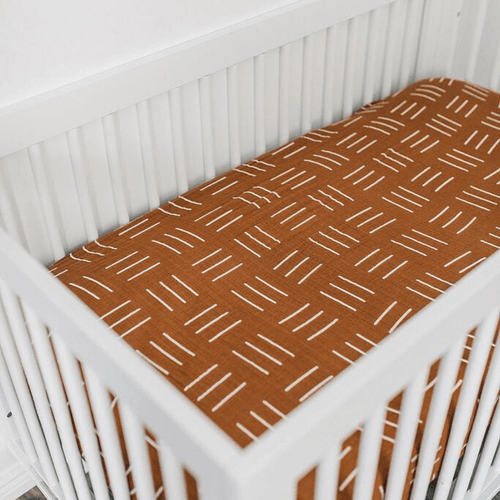 Mustard Mudcloth Muslin Crib Sheet - Project Nursery