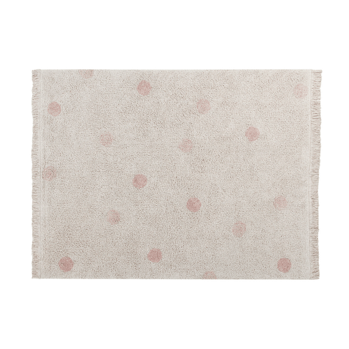 Hippy Dots Washable Rug - Vintage Nude - Project Nursery