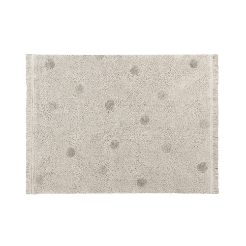 Hippy Dots Washable Rug - Olive - Project Nursery