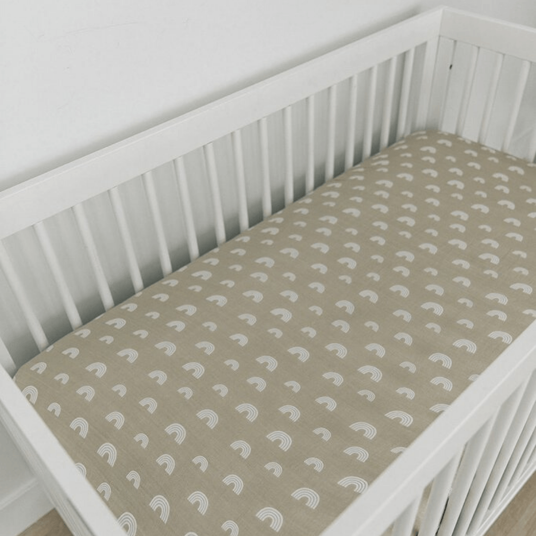 Sand Rainbow Muslin Crib Sheet - Project Nursery