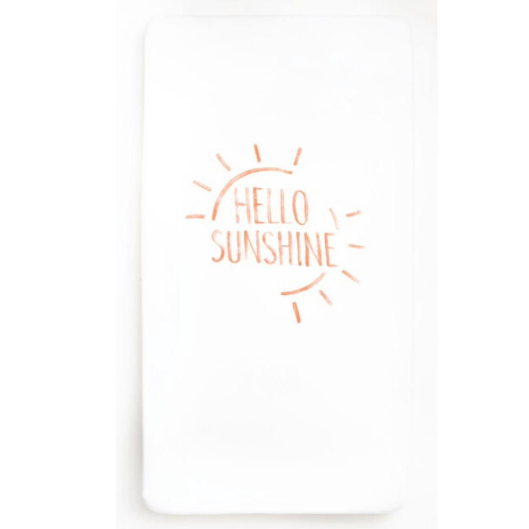 Hello Sunshine Crib Sheet - Project Nursery