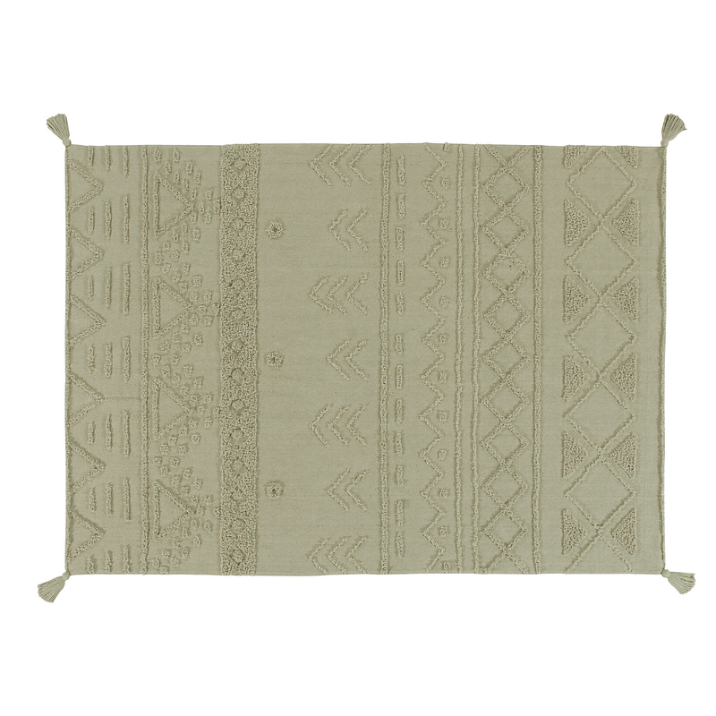 Tribu Washable Rug - Olive - Project Nursery