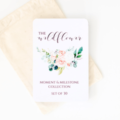 Baby Milestone + Moment Cards - Wildflower Collection - Project Nursery