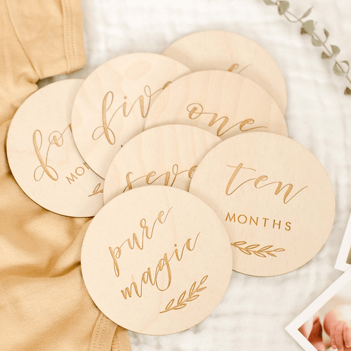Etched Wooden Baby Milestone Collection - Project Nursery