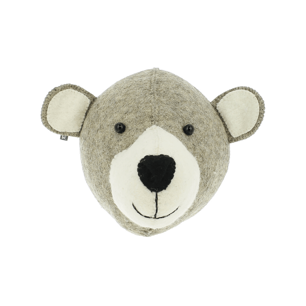 Semi-Size Mummy Bear Head Wall Hanging - Project Nursery