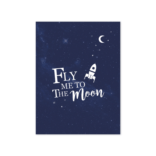 Fly Me To The Moon Wall Print - Project Nursery