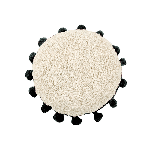 Circle Cushion in Black - Project Nursery