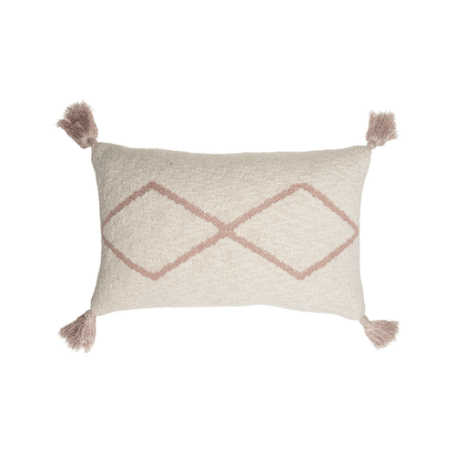 Little Oasis Knitted Cushion in Pale Pink - Project Nursery