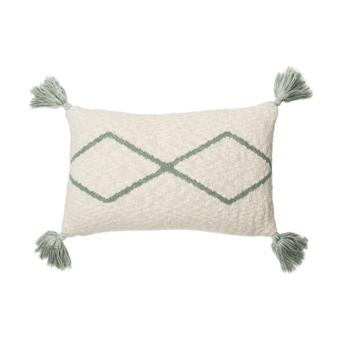Little Oasis Knitted Cushion in Indus Blue - Project Nursery