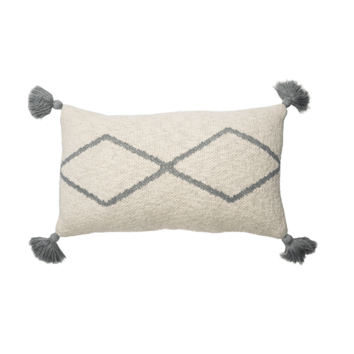 Little Oasis Knitted Cushion in Grey - Project Nursery