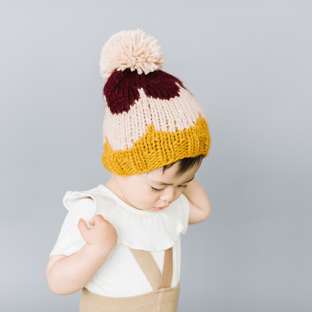 Scallop Knit Hat in Pomegranate - Project Nursery
