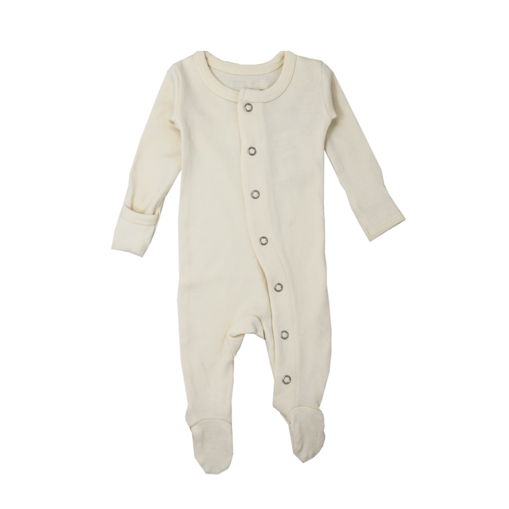 Organic Footed Overall - Beige - Project Nursery