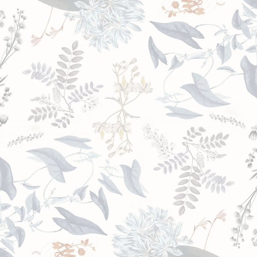 Breezy Botanical Wallpaper Mural - Project Nursery