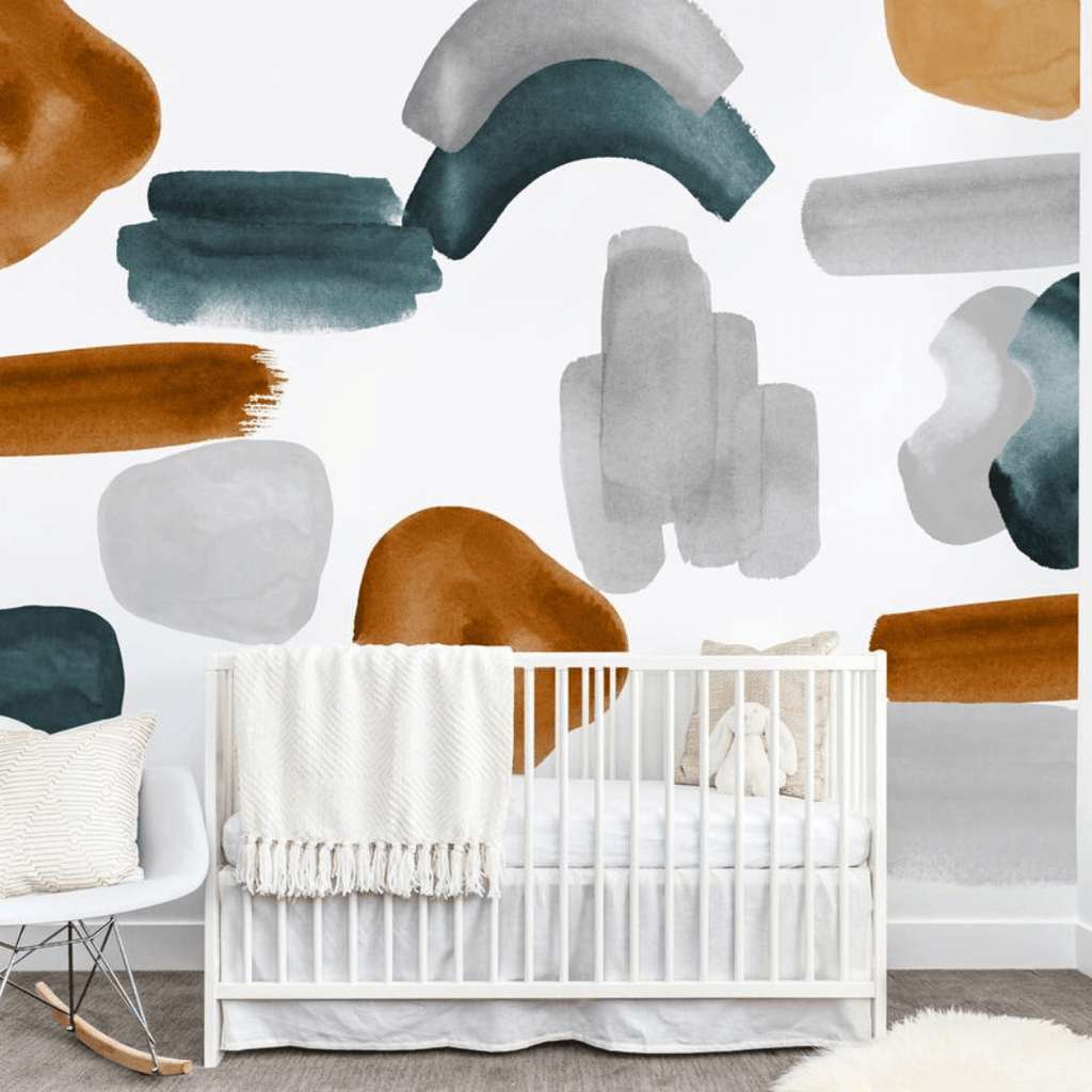 Navy Abstract Wall Decal Set - Project Nursery