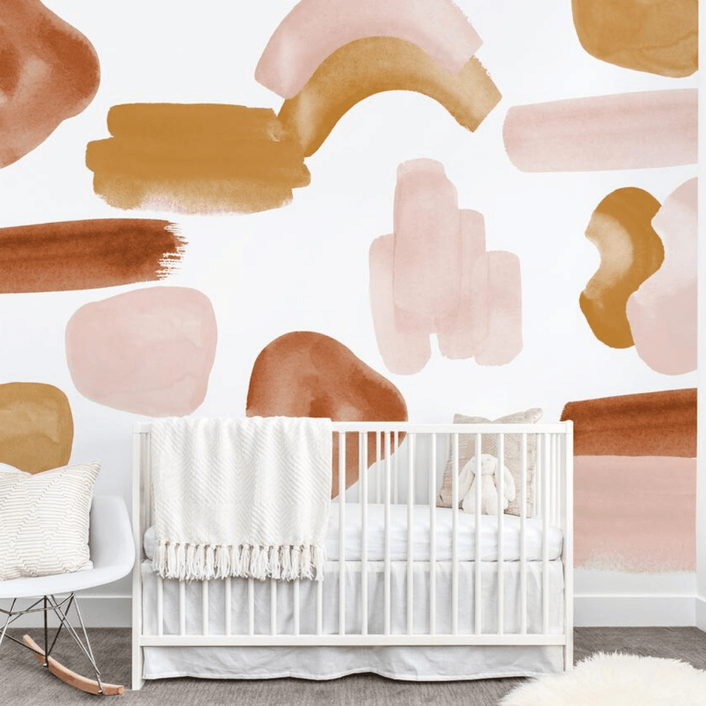 Blush Abstract Wall Decal Set - Project Nursery