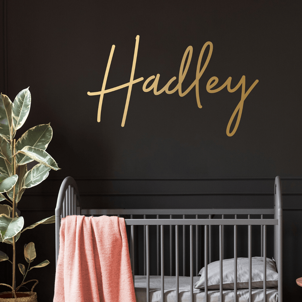 Personalized Name Wall Decal - Choose Your Color - Project Nursery
