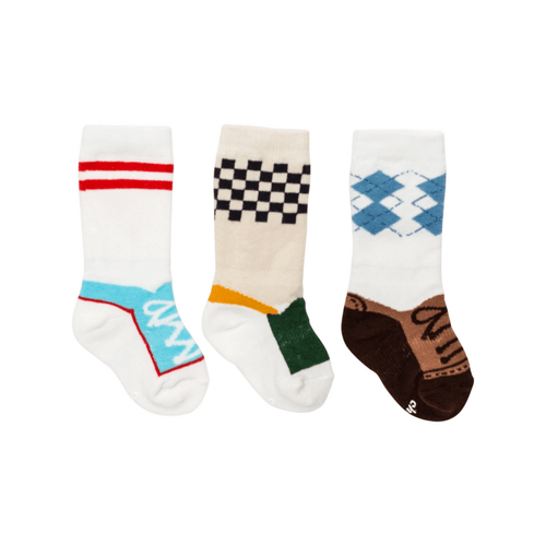Baby Boy Shoe Socks - 3 pack - Project Nursery