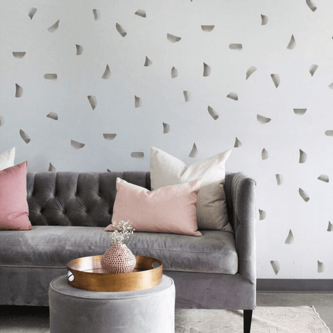Gray Delicate Herringbone Wallpaper