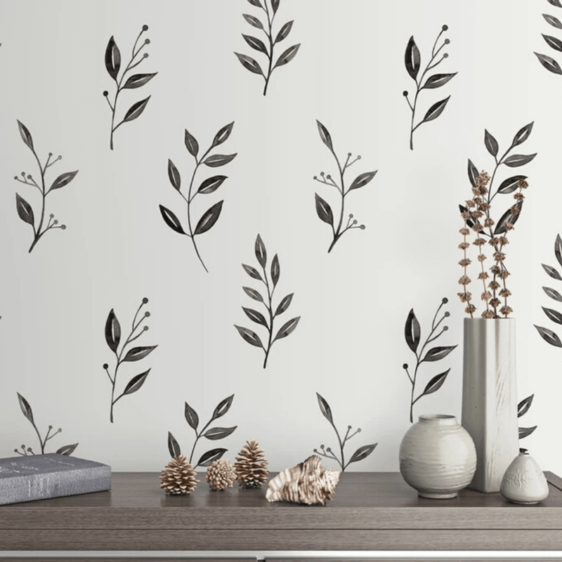 Inked Leaves Wall Decals - Project Nursery