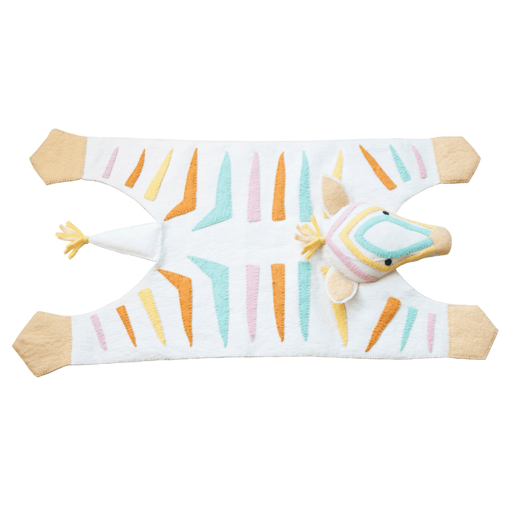 Natural Pastel Zebra Rug - Project Nursery