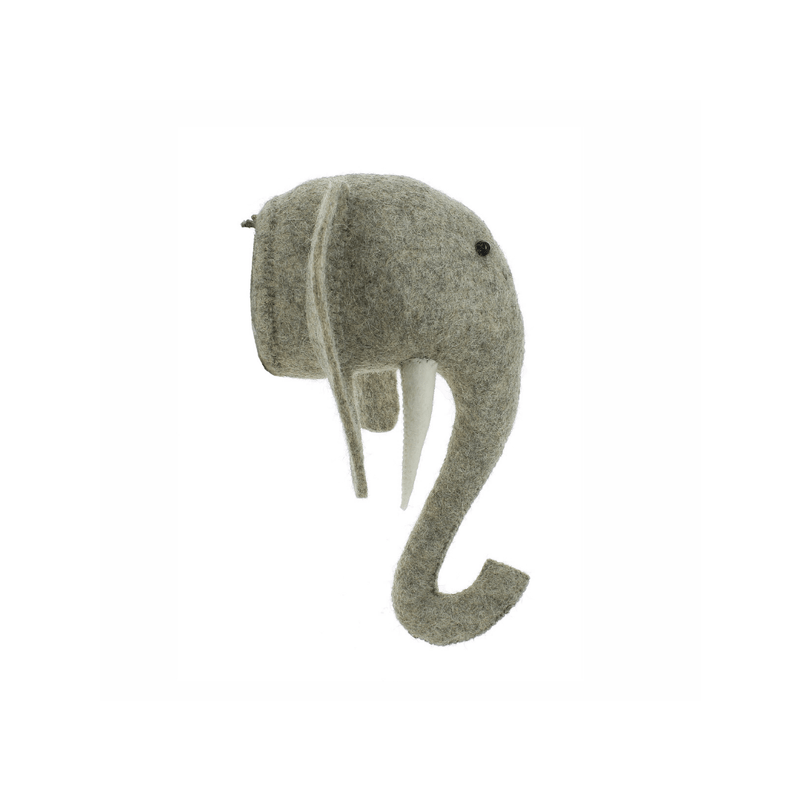 Mini Elephant Head Wall Hanging with Tusks - Project Nursery
