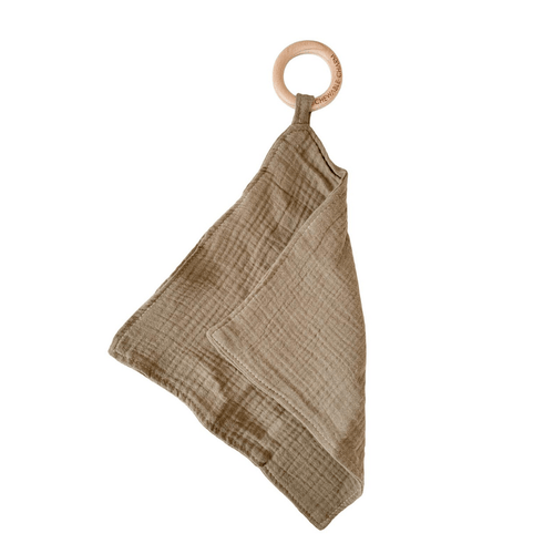 Muslin Teething Ring - Flax - Project Nursery
