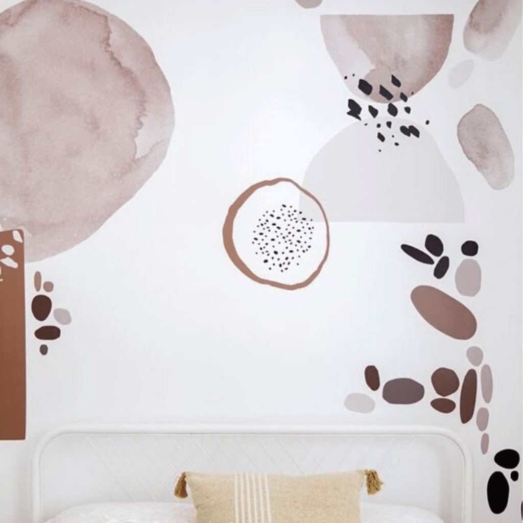 Camel Circular Abstract Decals - Project Nursery
