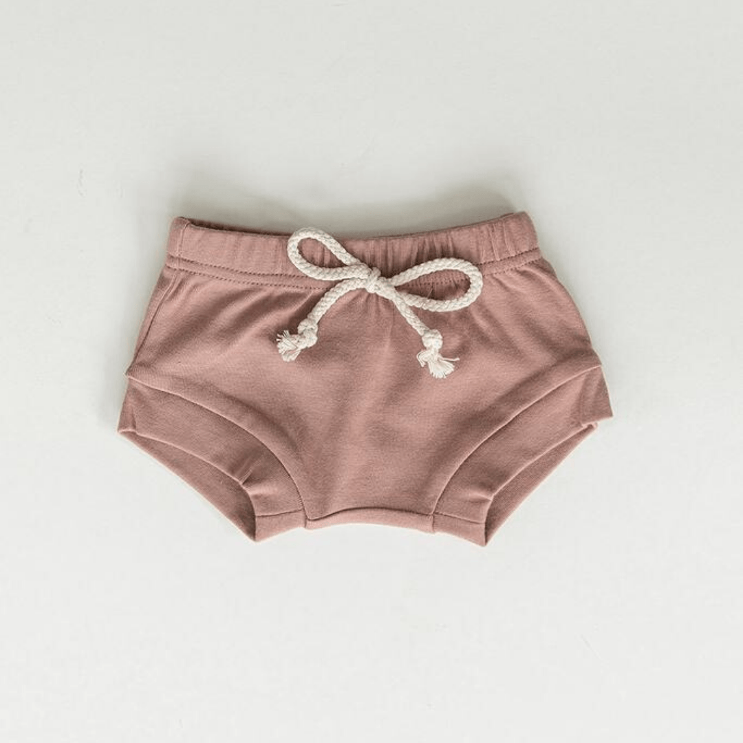 Cotton Shorts - Blush Layette Mebie Baby