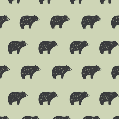Chubby Bear Wallpaper Wallpaper Tea Collection x Wallshoppe