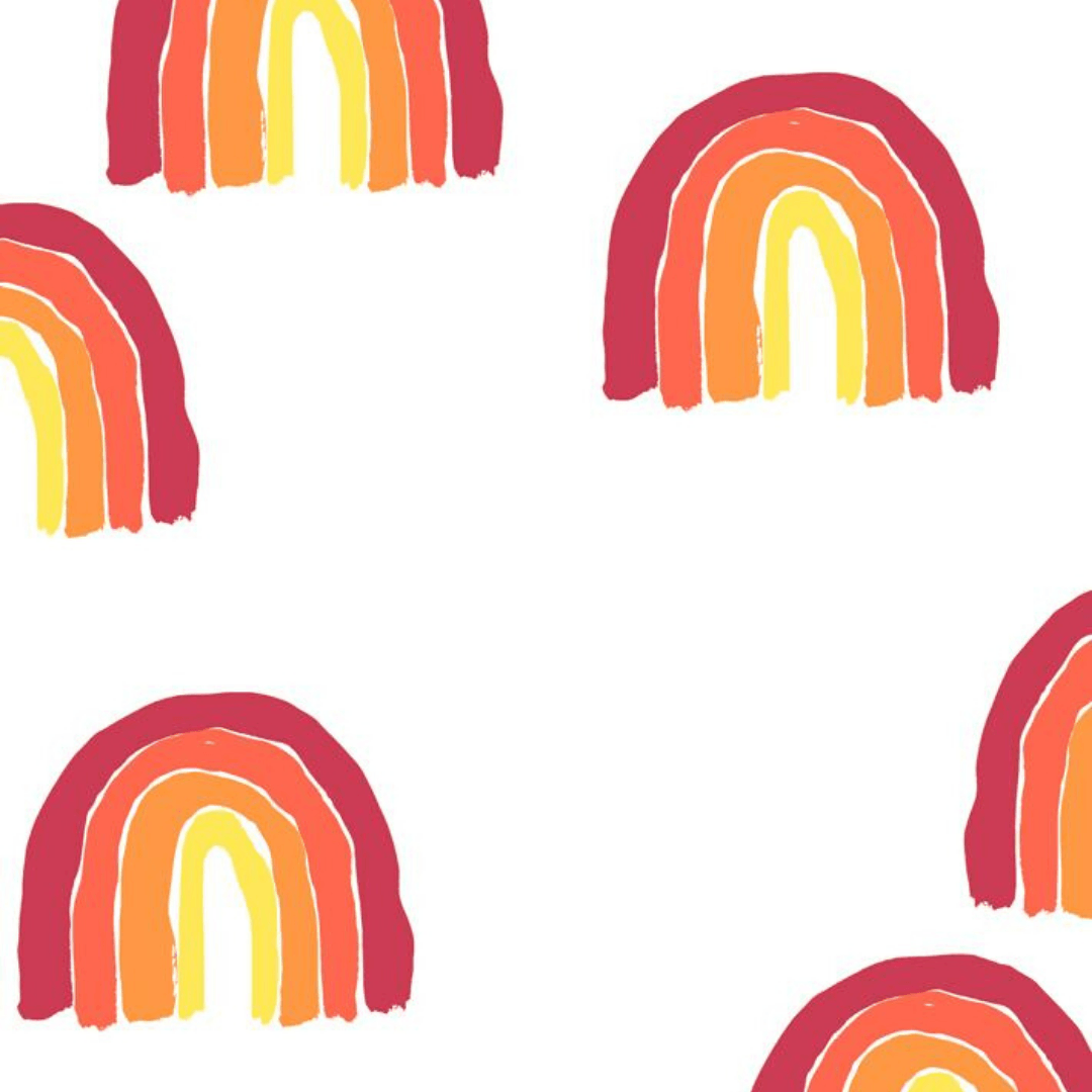 Rainbows Wallpaper - Red - Project Nursery