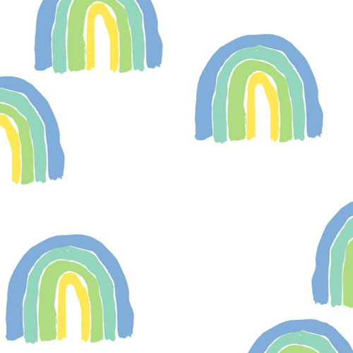 Rainbows Wallpaper - Green - Project Nursery