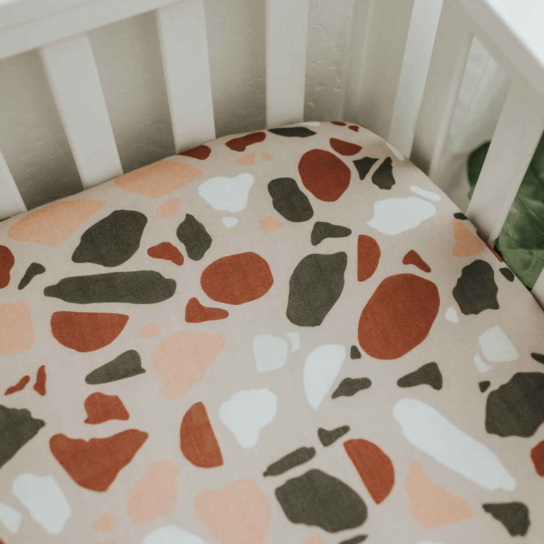 Light Terazzo Crib Sheet - Project Nursery