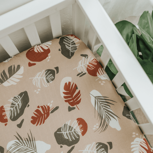 Palm Terazzo Crib Sheet - Project Nursery