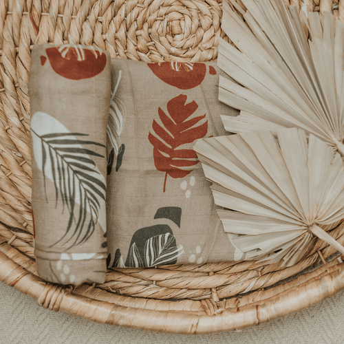 Palm Terrazzo Swaddle Blanket - Project Nursery