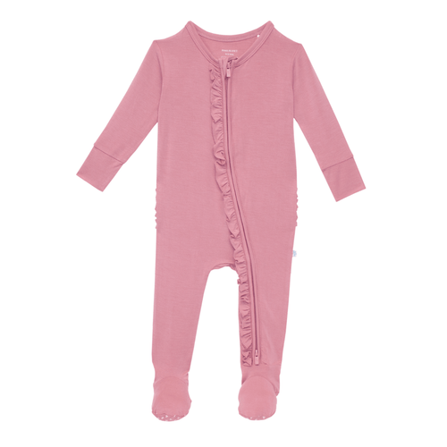 Solid Zippered Footie - Dusty Rose - Project Nursery