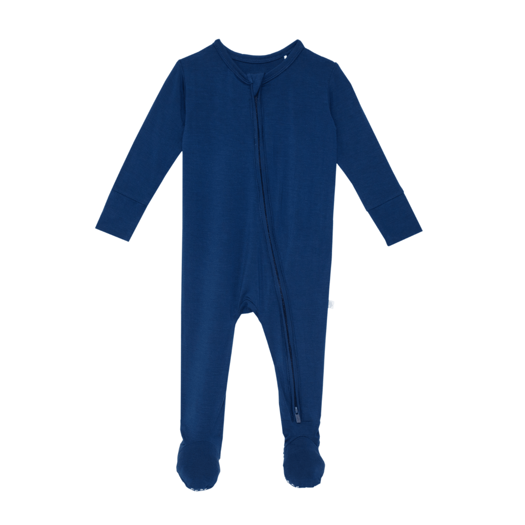 Solid Zippered Footie - Sailor Blue - Project Nursery