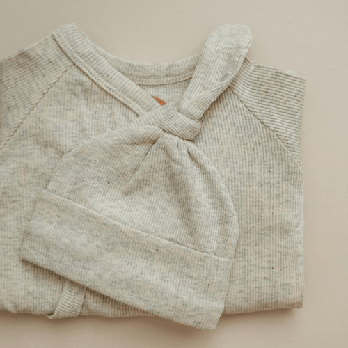 Oatmeal Ribbed Beanie - Project Nursery