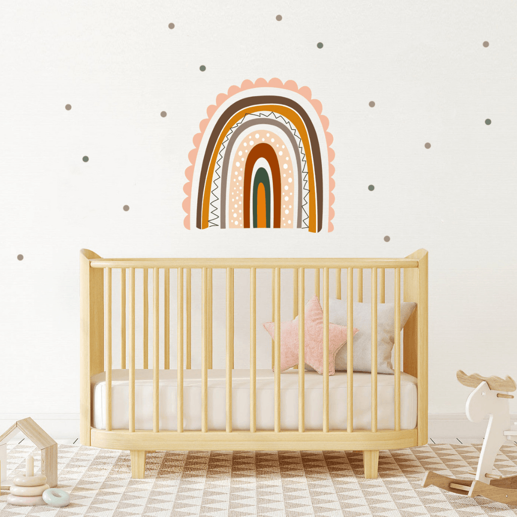 Boho Single Rainbow Wall Stickers - Project Nursery