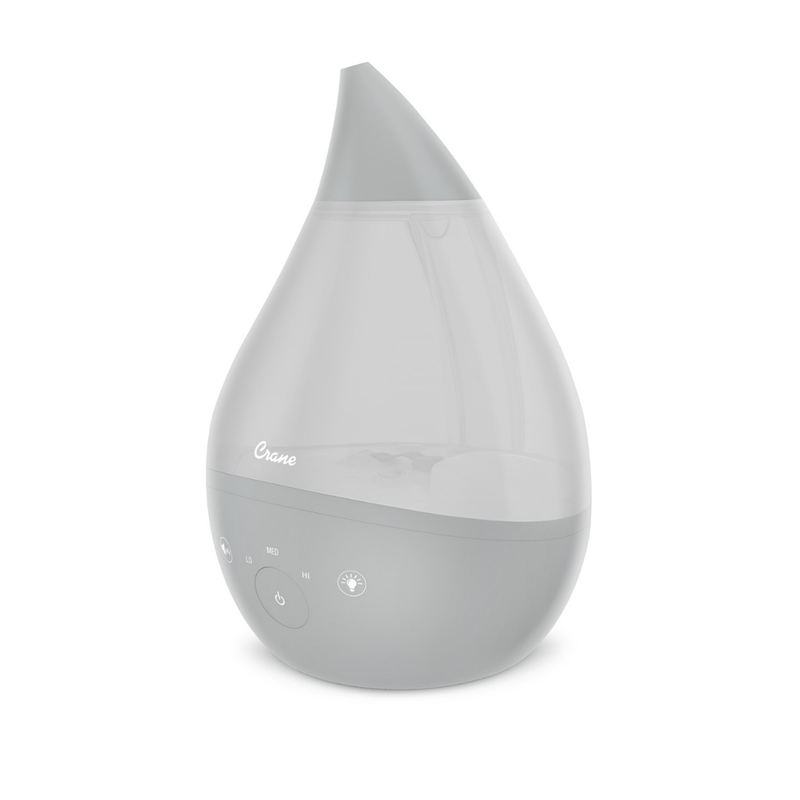 4-in-1 Top Fill Drop Cool Mist Humidifier w/ Sound Machine - Grey - Project Nursery