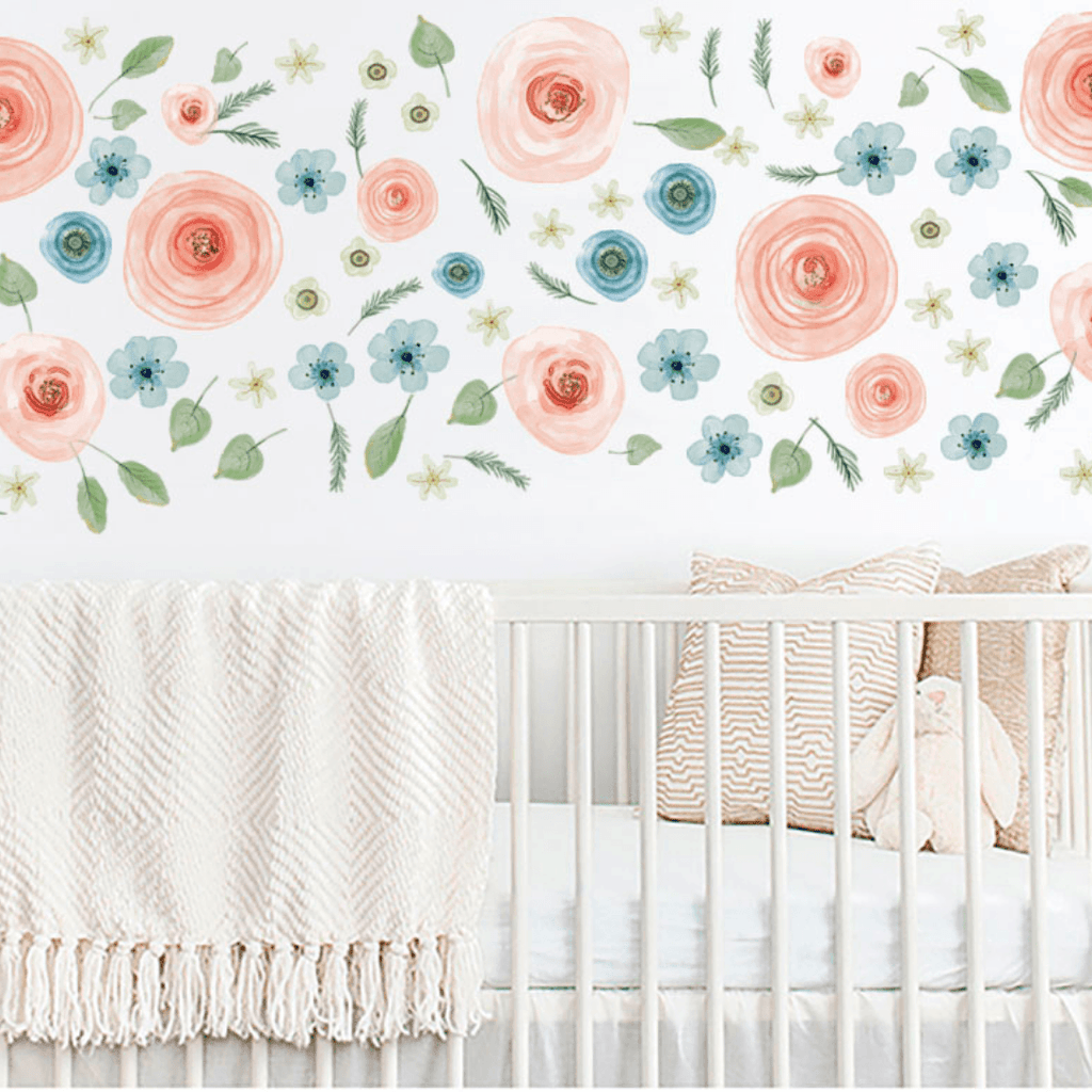 Watercolor Floral Foliage Wall Stickers - Project Nursery