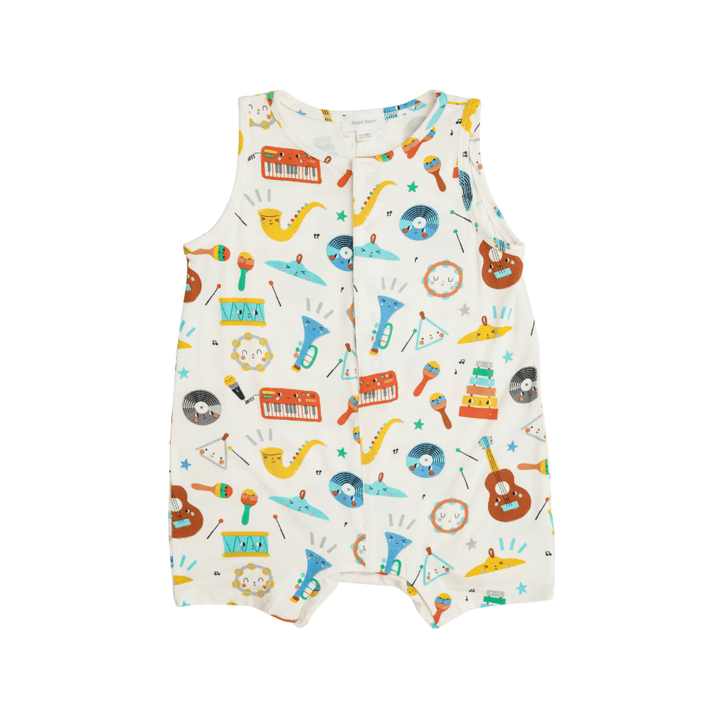 Happy Music Shortie Romper - Project Nursery