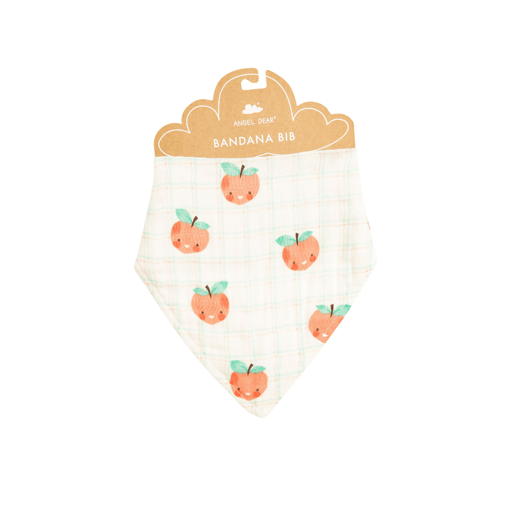 Plaid Peaches Bandana Bib - Project Nursery