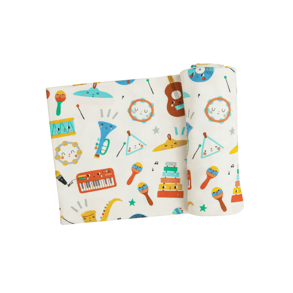 Happy Music Swaddle Blanket - Project Nursery