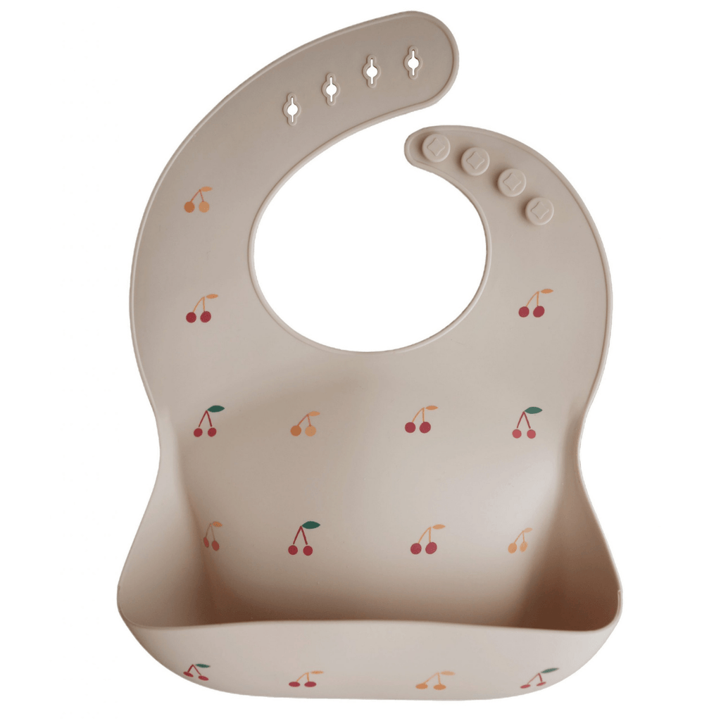 Cherries Silicone Baby Bib - Project Nursery