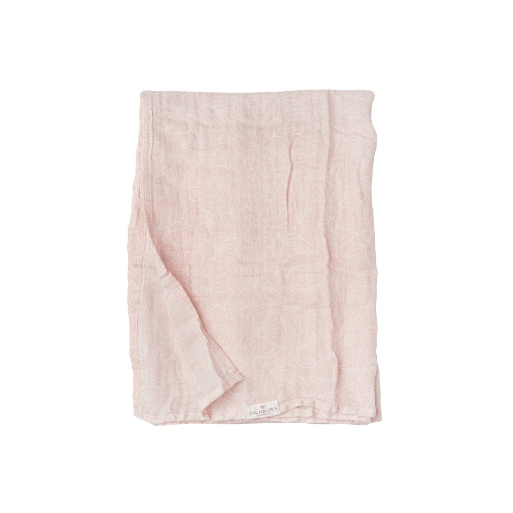 Sepia Rose Floral Swaddle - Project Nursery
