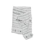 White Mudcloth Bamboo Swaddle Blanket - Project Nursery